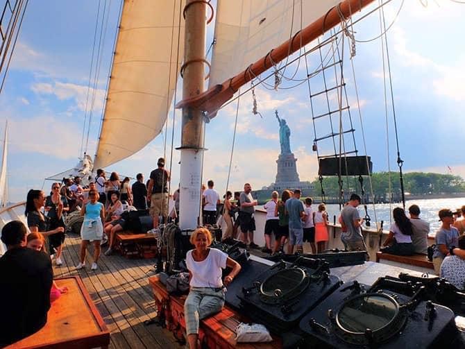 Frihedsgudinden sejltur i New York - Sejltur