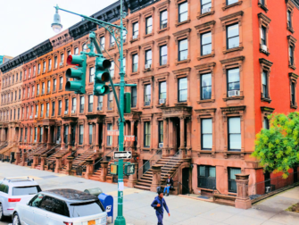 Harlem i New York - Brownstone-huse