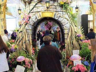 Macy's i New York - Flower Show blomsterdekorationer