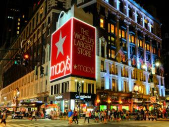 Macy's i New York - Set fra gaden