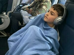 Flyve med børn til New York