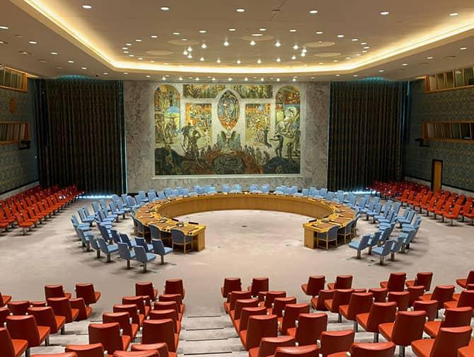 De Forenede Nationer i New York - Sikkerhedsrådets mødelokale