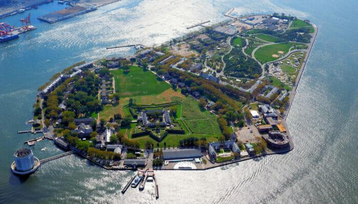 Governors Island New York - Luftfoto
