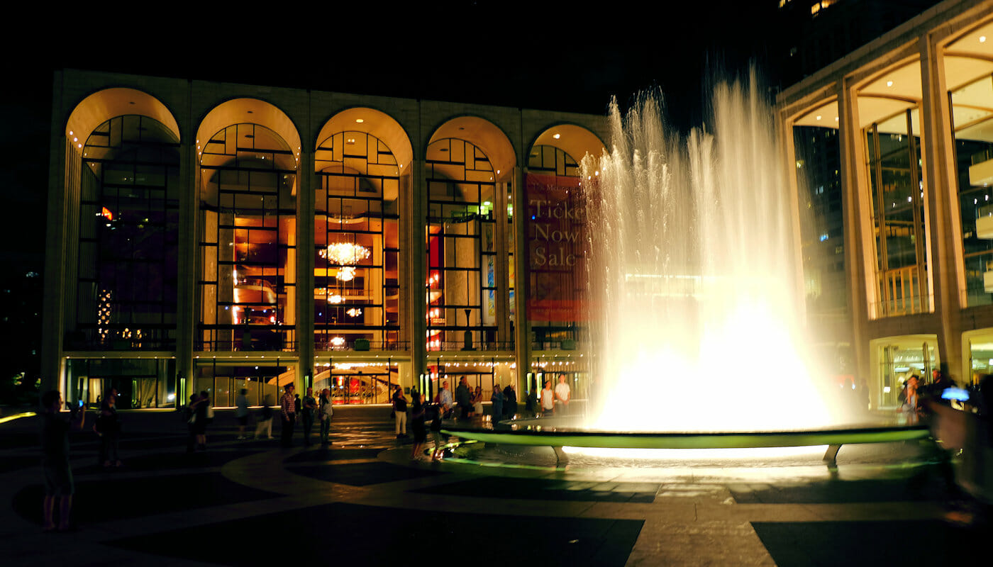 Lincoln Center i New York - Lincoln Center om aftenen
