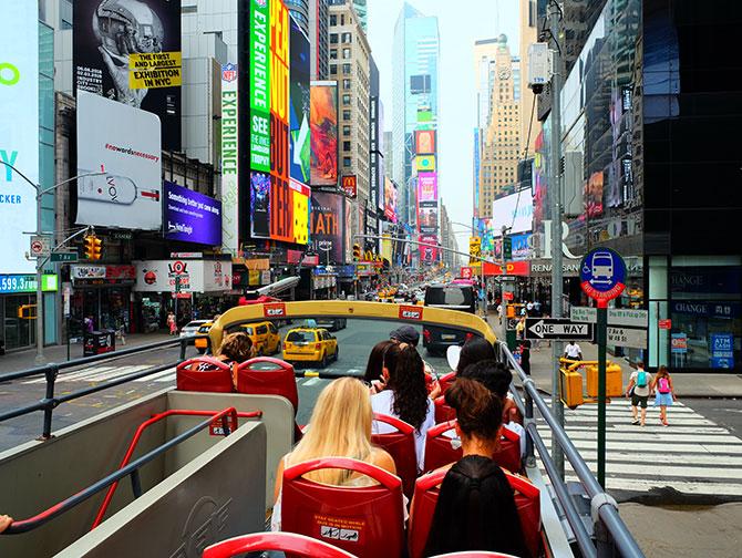 Big Bus i New York - Udsigt