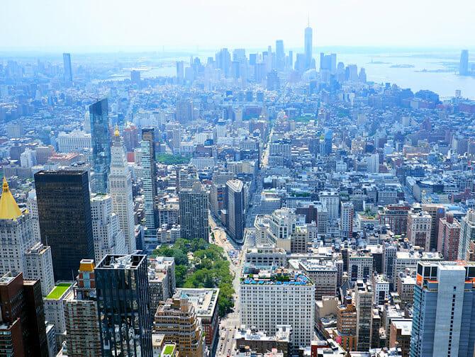 Empire State Building billetter - Udsigt over Downtown Manhattan