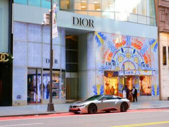 Shopping på Upper East Side i New York - Butiksvinduer