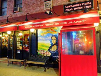 Bedste pizza i New York - Lombardi's Pizza