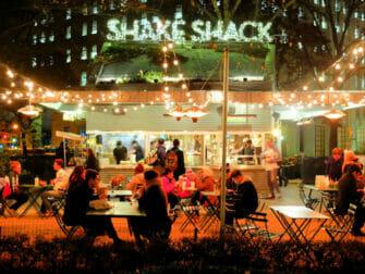 Bedste burger i New York - Shake Shack udefra