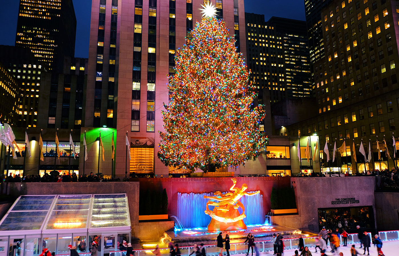 Juletid i New York - Juletræet ved Rockefeller Center