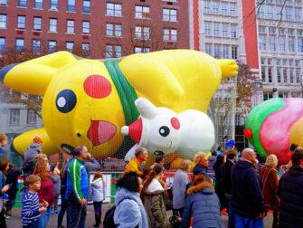 Macy's Thanksgiving Parade - Balloner pustes op