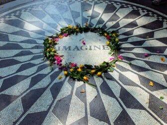 Guidet tur til filmlokationer i Central Park - Strawberry Fields