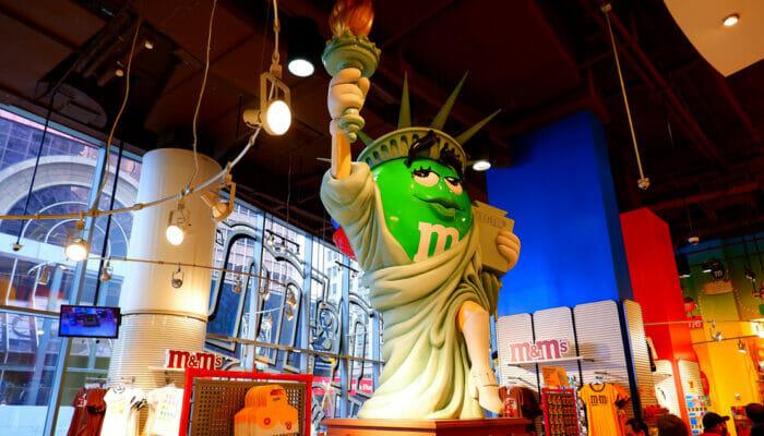M&M's Store på Times Square - Frihedsgudinde