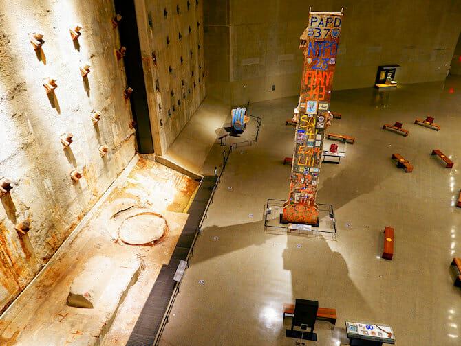 9/11 Museum i New York - Indenfor