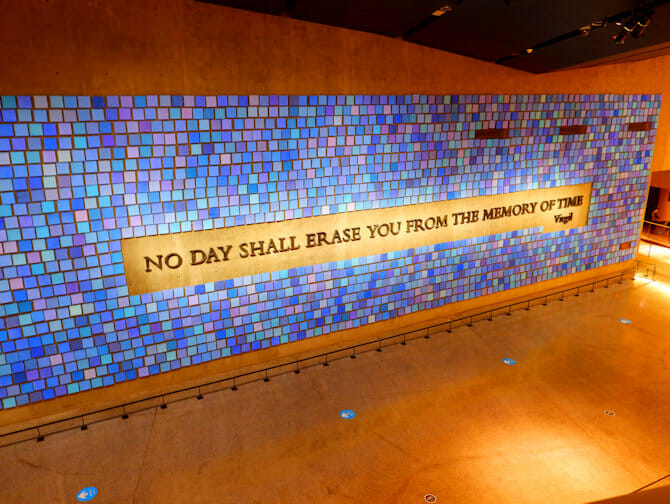 9/11 Museum i New York - Memorial Wall