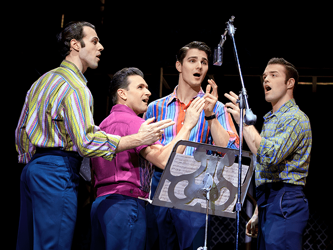 Jersey Boys Broadway billetter - Frankie Valli and The Four Seasons