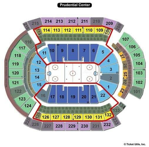New Jersey Devils billetter - Prudential Center siddepladser