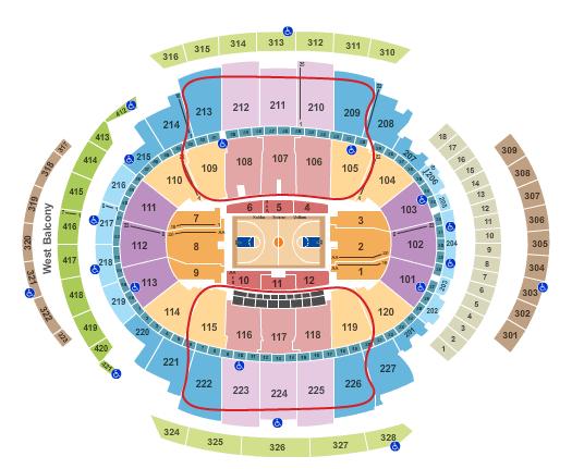 New York Knicks billetter - Madison Square Garden oversigt