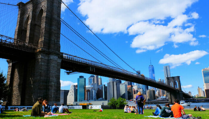 Brooklyn Bridge Park i New York - Afslapning