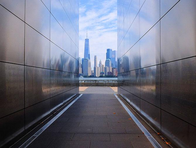 Empty Sky Memorial i New Jersey - Udsigt over skylinen