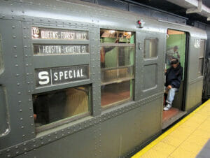Gammeldags subway-vogne i New York