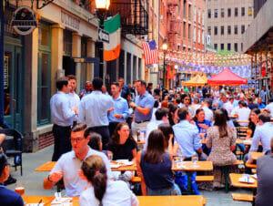 Stone Street restauranter i New York