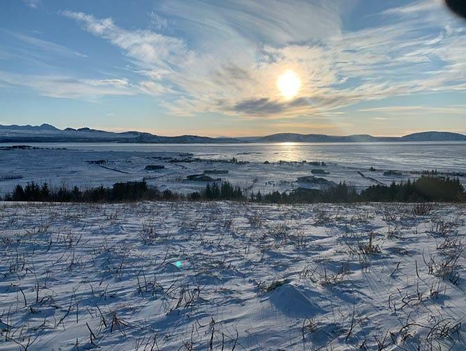 Island stopover på vej til New York
