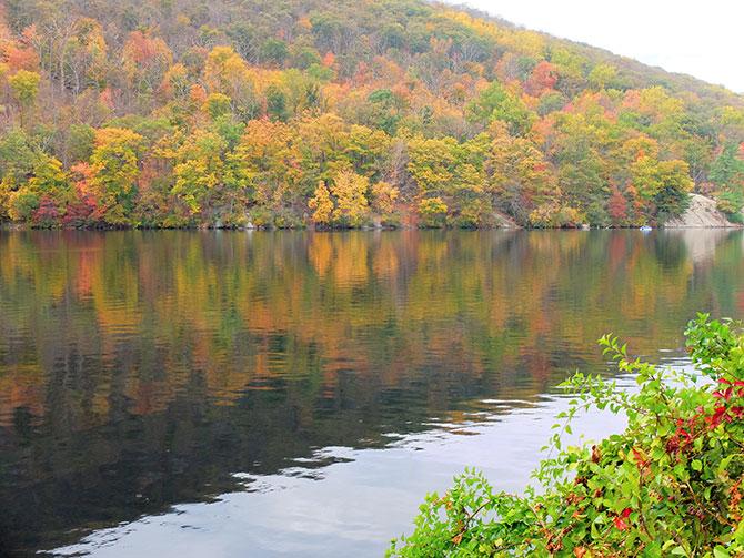Dagstur til Bear Mountain i New York - Efterårsfarver