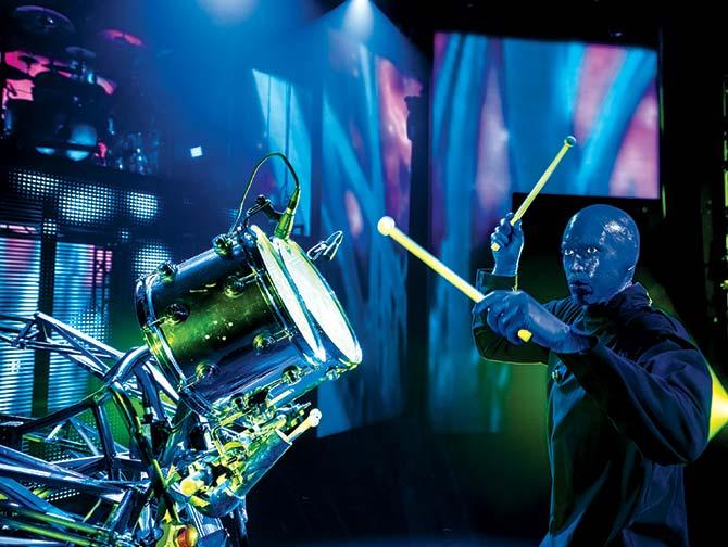 Blue Man Group i New York billetter - Trommeslager
