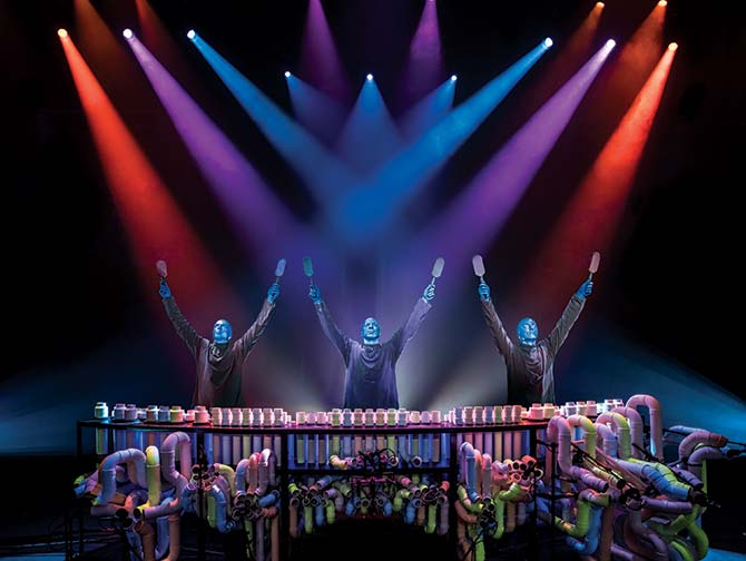 Blue Man Group i New York billetter - Armene op