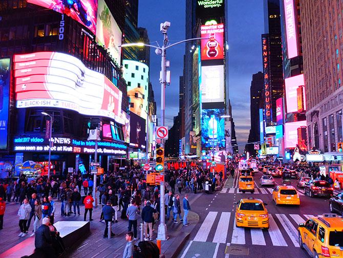 Gray Line hop-on-hop-off-bus i New York - Night Tour