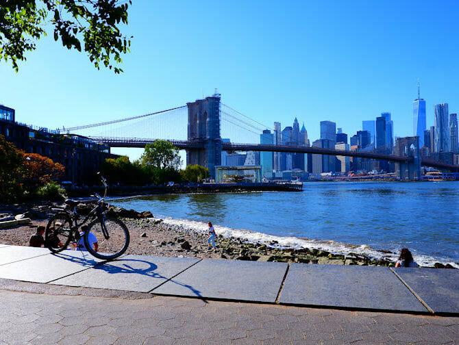 Leje cykel i New York - Brooklyn Bridge