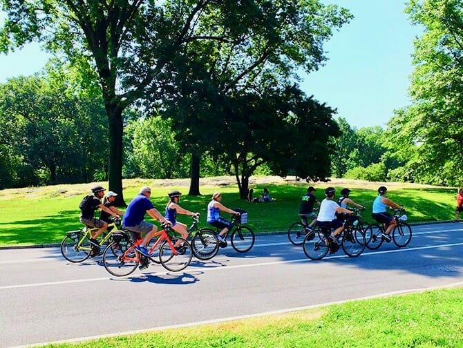 Leje cykel i New York - Cykeltur i Central Park