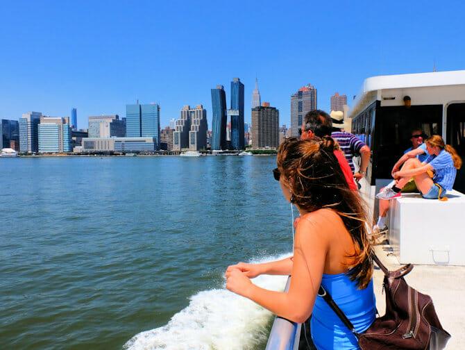 NYC Ferry i New York - Tur med færgen