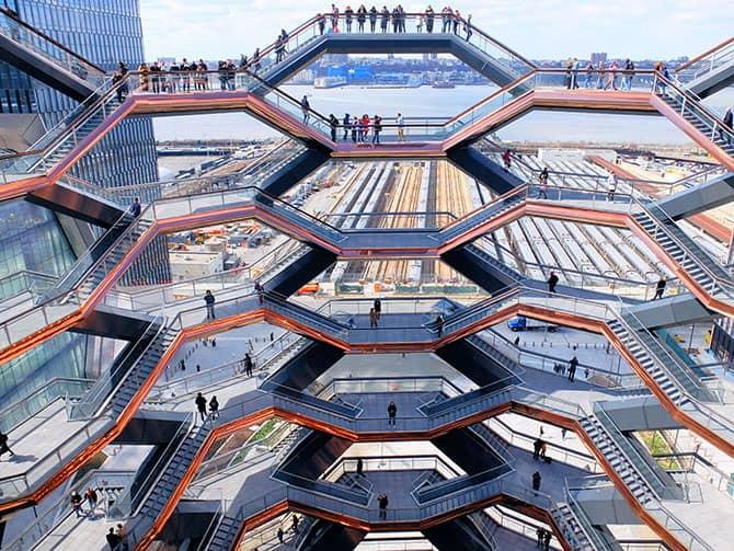 Hudson Yards Vessel i New York - Udsigt fra Vessel
