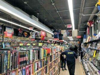 Superheroes Tour i New York - Tegneseriebutik