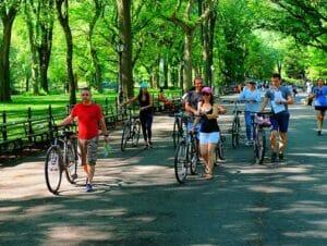 Guidet tur på elcykel i New York