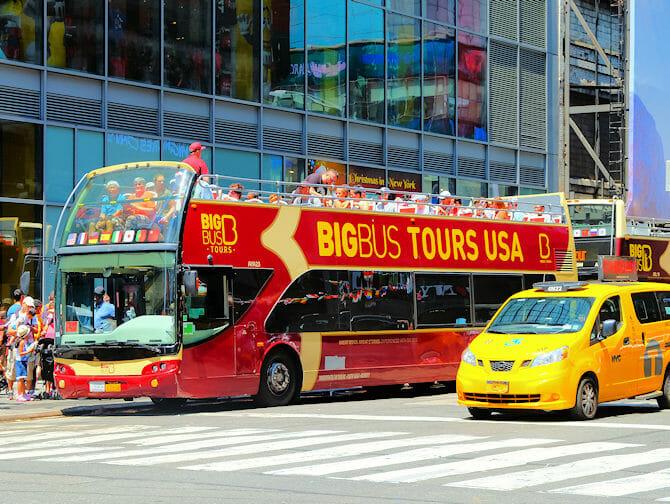 Forskellen på New York Sightseeing Flex Pass og Sightseeing Day Pass - Hop-on-hop-off-bus