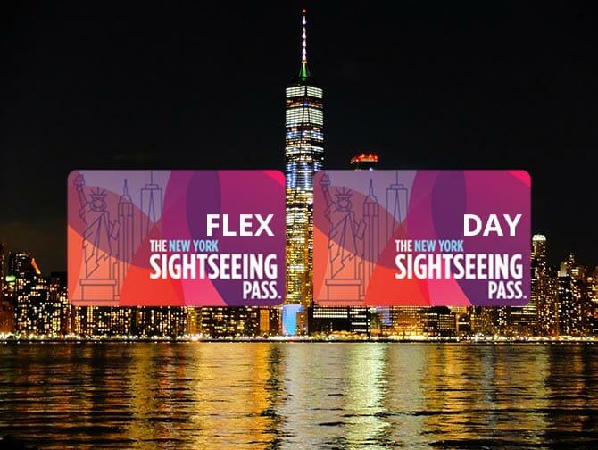 Forskellen på New York Sightseeing Flex Pass og Sightseeing Day Pass