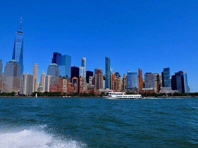 RIB-båd i New York - Udsigt fra båden