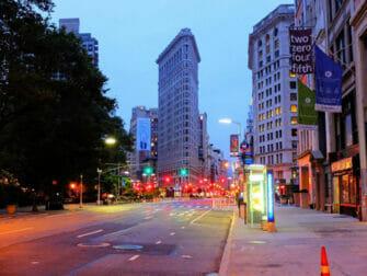 Flatiron Building i New York - Aften