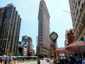 Flatiron Building i New York - Uret ved Flatiron Building