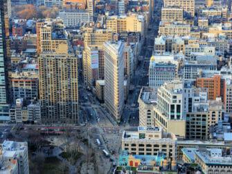 Flatiron Building i New York - Udsigt