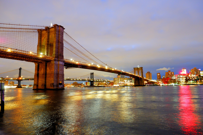 At Night Brooklyn Bridge High Quality Wallpaper