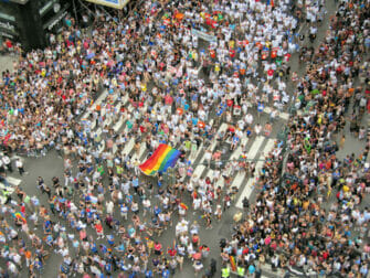 Crowds for New York Gay Pride