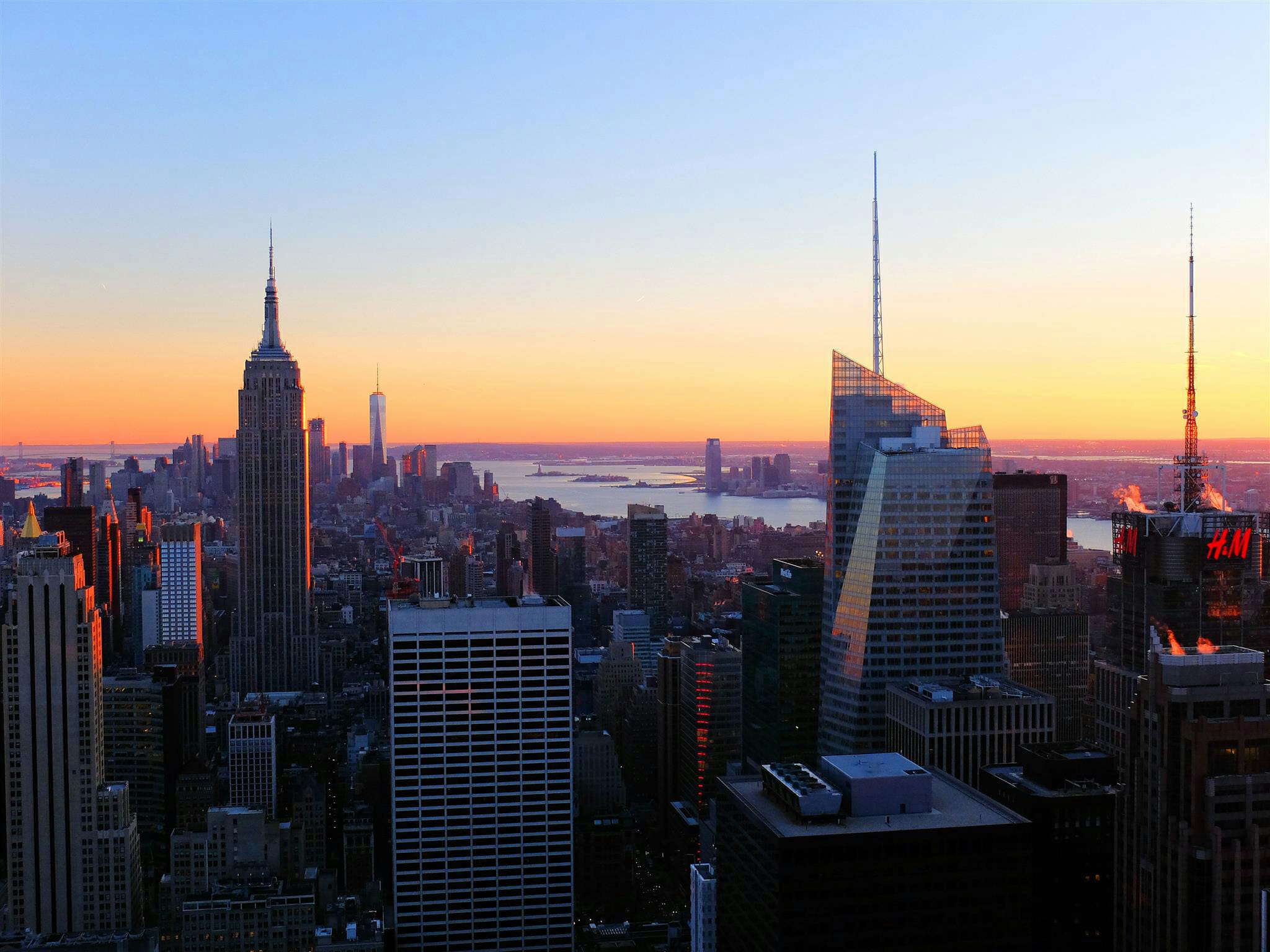 Empire State Building Skyline Susnet High Quality Wallpaper