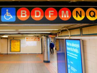 Faciliteter for handicappede i New York - Subway
