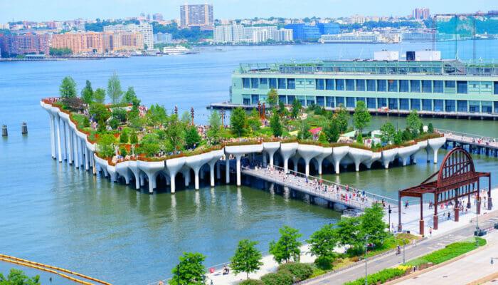 Little Island i New York - Hele øen