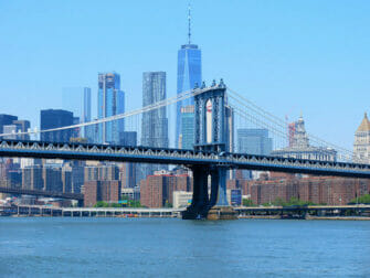 Manhattan Bridge i New York - Skyline