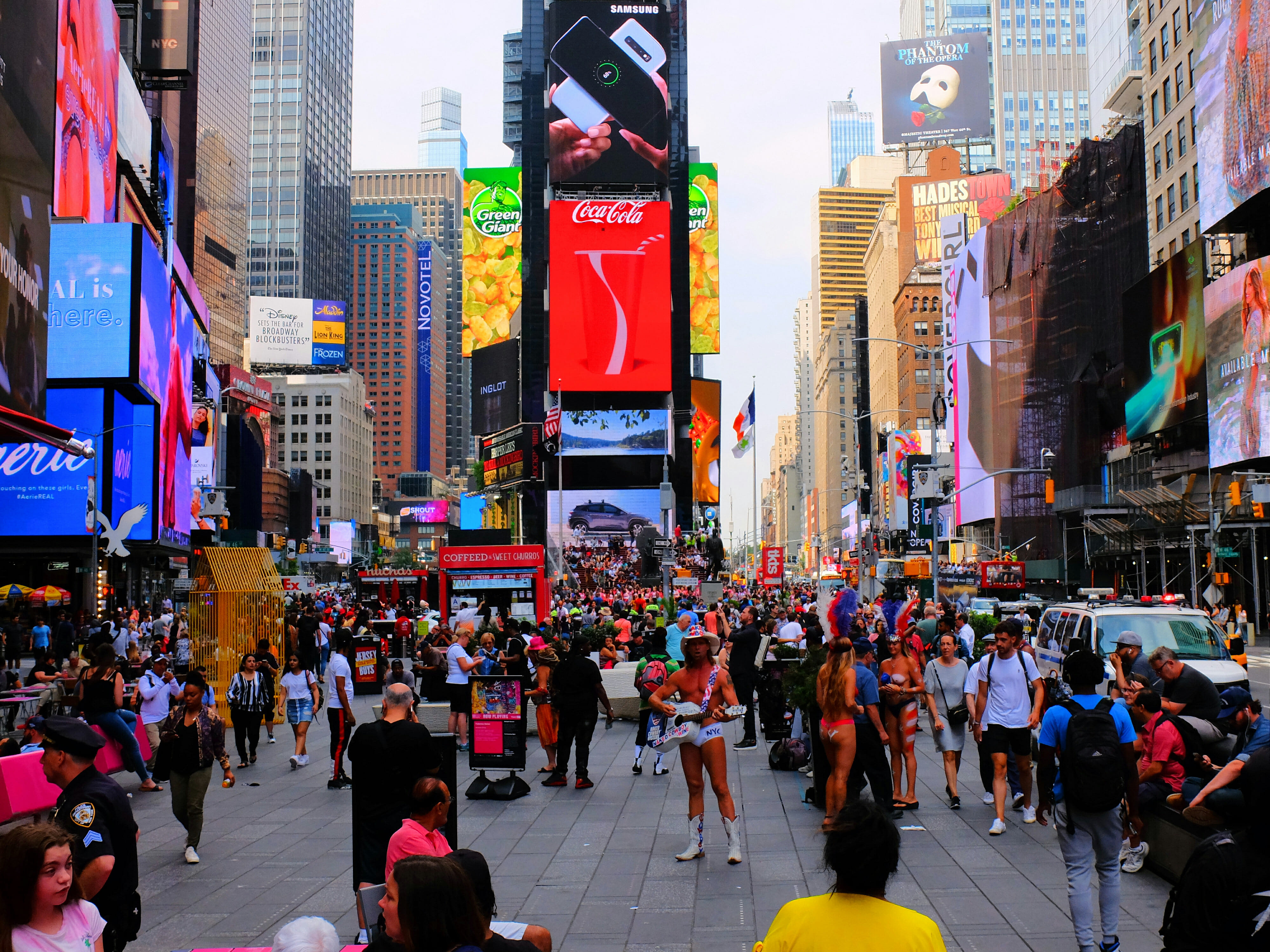 Naked Cowboy Times Squre High Quality Wallpaper